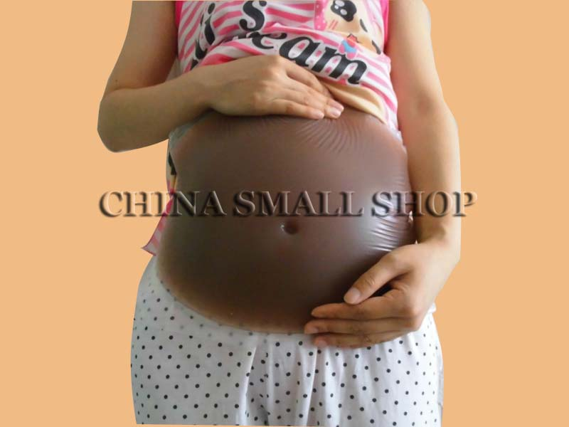 natural silicone fake belly 2-3 month 1000g  Tan artificial false jelly belly  dark silicone belly for pregnancy test купить