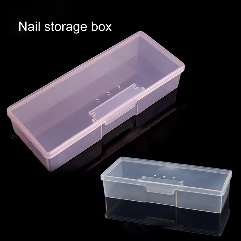 Stand Display Boxes Organizer Case Buffer Grinding Files Plastic Transparent Nail Art Equipment Storage Box Nail Manicure Tools