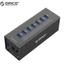 ORICO A3H7 USB 3.0 концентратор высокой Скорость Алюминий 7 Порты и разъёмы USB 3.0 хаб для ПК/ноутбука-черный