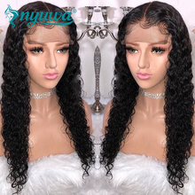 NYUWA Pre Plucked Full Lace Human Hair Wigs For Women Natural Black Curly Brazilian Remy Hair Full Lace Wigs With Baby Hair