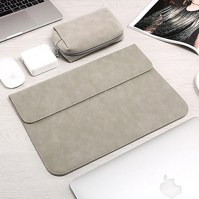 Matte Laptop Sleeve Bag For Macbook Air 13 A1932 11 12 15.4 New Pro 15 Touch Bar Notebook Case For Xiaomi 13.3 15.6 Scrub Cover