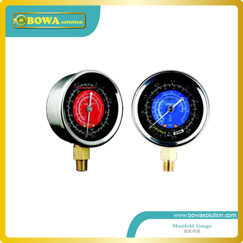 R12, R22 and R502 refrigeration pressure gauge(Code 1522) including high and Low r134a single refrigeration pressure gauge code 1503 including high and low