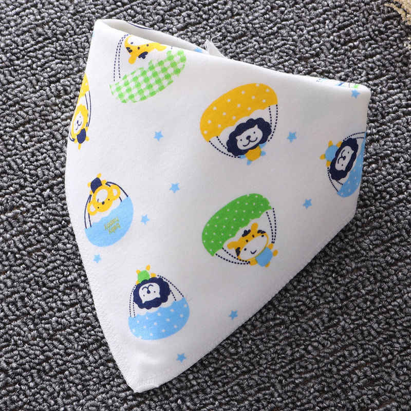 1 шт. Детские хлопковые нагрудники с милым рисунком, слюнявчик для кормления младенцев