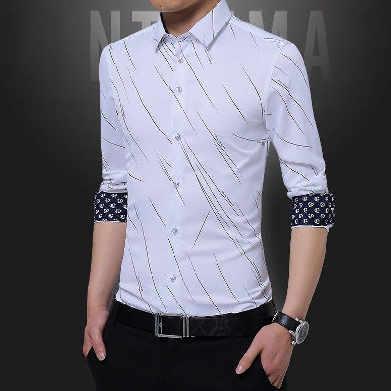 Male Clothing Fit Business Shirts Men Dress Shirt Long Sleeve Slim Brand Man Shirts Designer High Quality Solid Men Shirts New