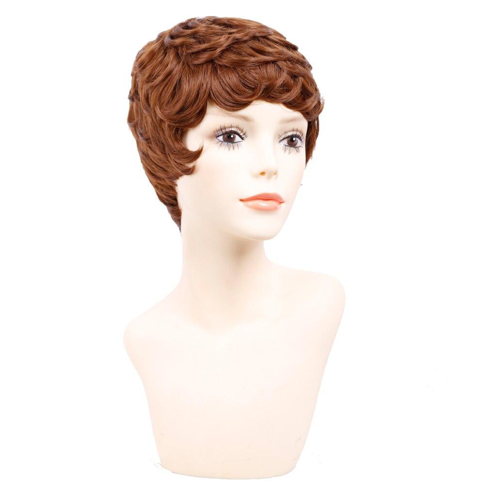 Amir Korta Paryk För Svarta Kvinnor Svart Kort Syntetisk Paryk - Syntetiskt hår - Foto 6