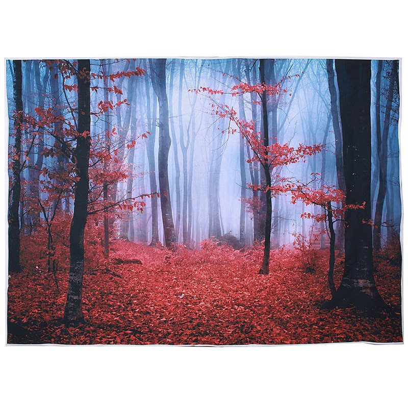 7 x5ft Vinyl Autumn Forest Photography Backdrop Studio Photo Props Red leaves Photographic Background Cloth 2.1mx 1.5M natural landscape golden leaves vinyl digital cloth photographic backdrop for photo studio photography background props s 647