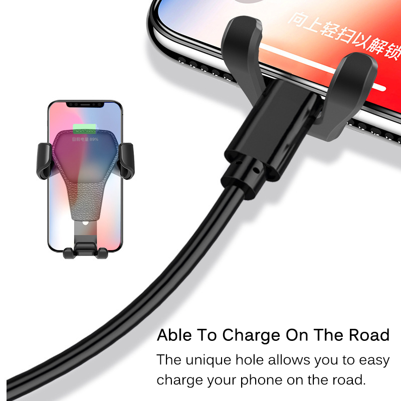 Image 5 - Universal Car Phone Holder Gravity Car Air Vent Mount In Car For iPhone XS X Samsung Xiaomi One hand Operate Phone Stand Bracket-in Phone Holders & Stands from Cellphones & Telecommunications