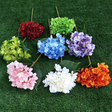 11p Silk Hydrangea Flower Artificial Stems 6.7 Head for Wedding Centerpieces Christmas Home Table Decorative Flowers