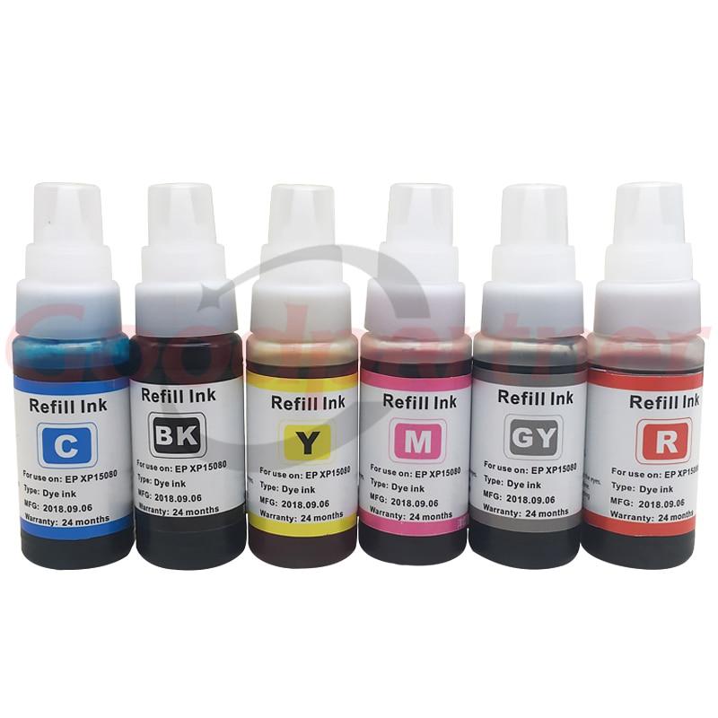 Для Epson XP 15080 15010 15000 СНПЧ Заправка чернилами 01U Черный Желтый Голубой Пурпурный Красный Серый A3