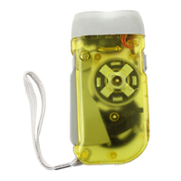 Dynamo Wind Up Crank Rechargeable 2 LED Flashlight Torch Light for Hiking