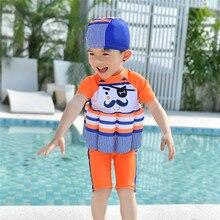 Детский Поплавковый костюм для маленьких мальчиков и девочек, регулируемый плавучий купальник с героями мультфильмов, шапочка, пляжный купальный костюм, купальный костюм, новое поступление