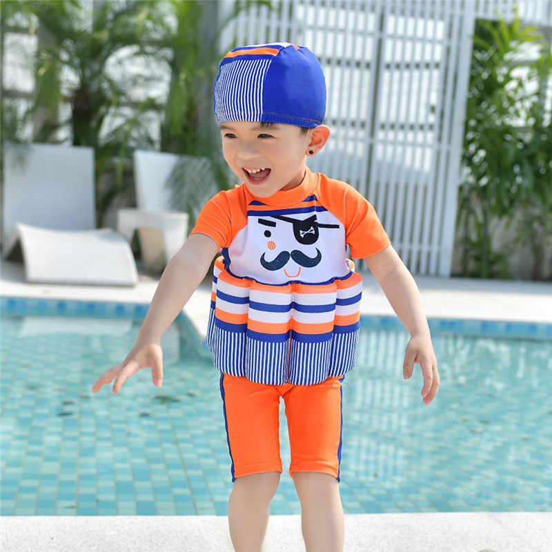 Kids Float Suit Adjustable Buoyancy Conjoined Swimsuit Romper Beach Summer
