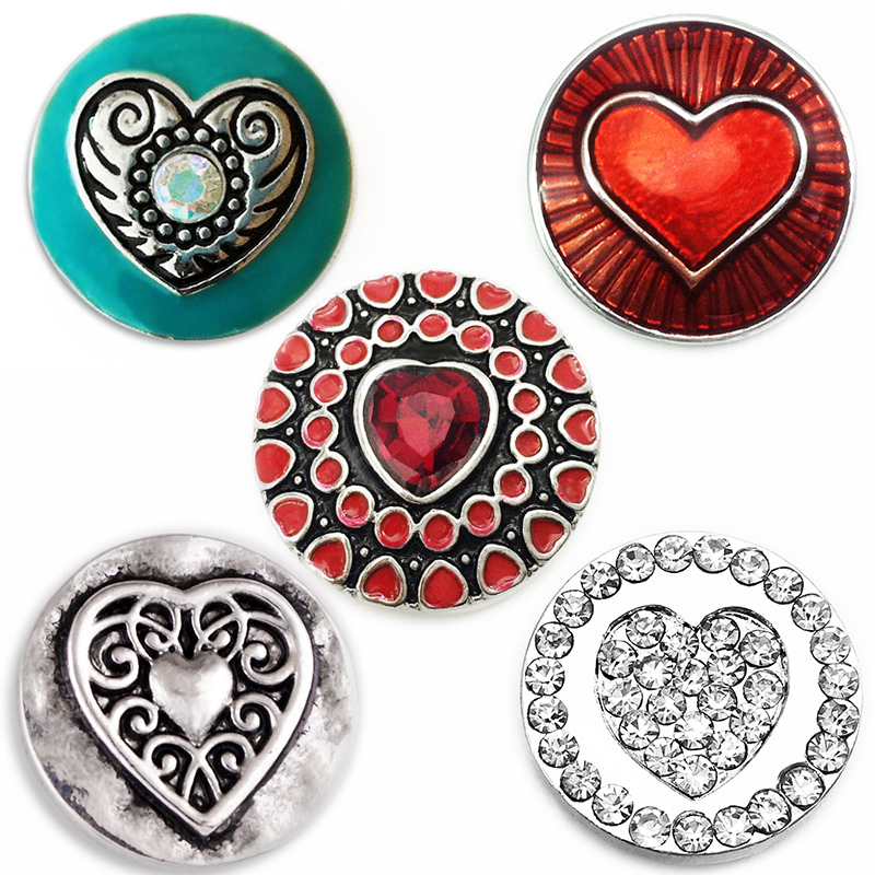 MN2137    LOVE  18mm   Metal  Snap Button   fit snap Jewelry   Hot Sale    DIY Bracelet