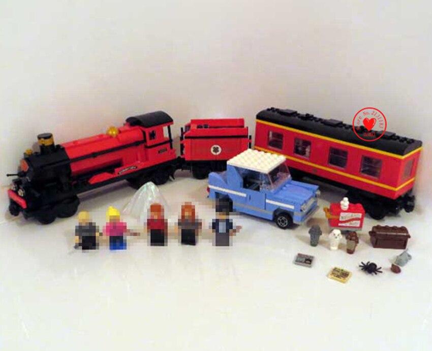 New Hogwarts Express train diy Toys fit legoings city Model train Building Blocks Bricks Child DIY Gift kid boys toy 4841