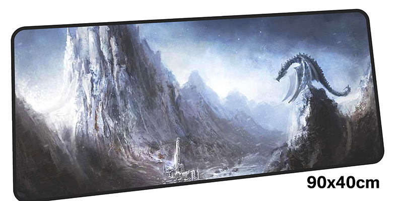 skyrim mouse pad gamer 900x400mm notbook mouse mat gel large gaming mousepad cheapest pad mouse PC desk padmouse accessories