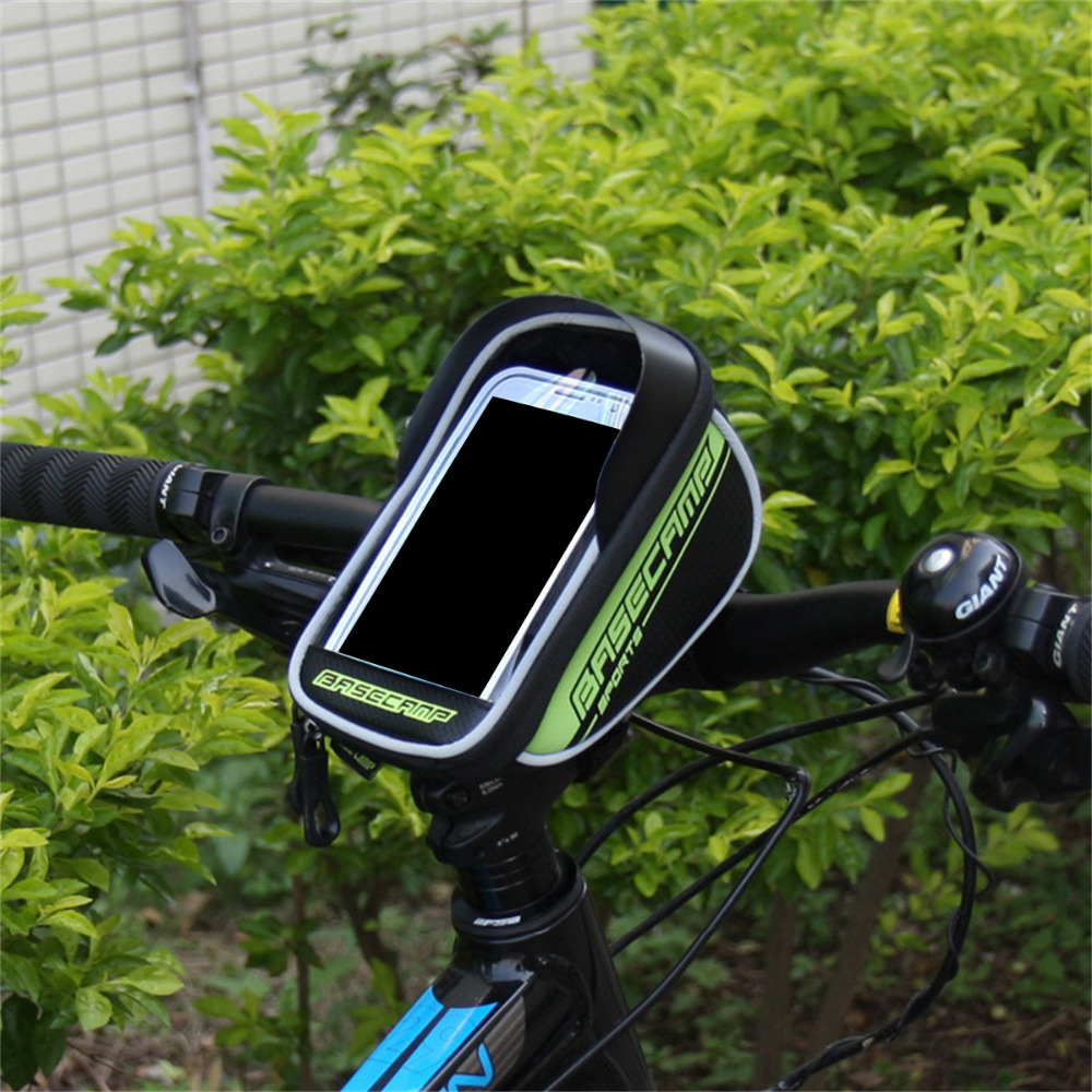 Bicycle Front Touch Screen Phone Bag MTB Road Bike Cycling Mobile Bag.