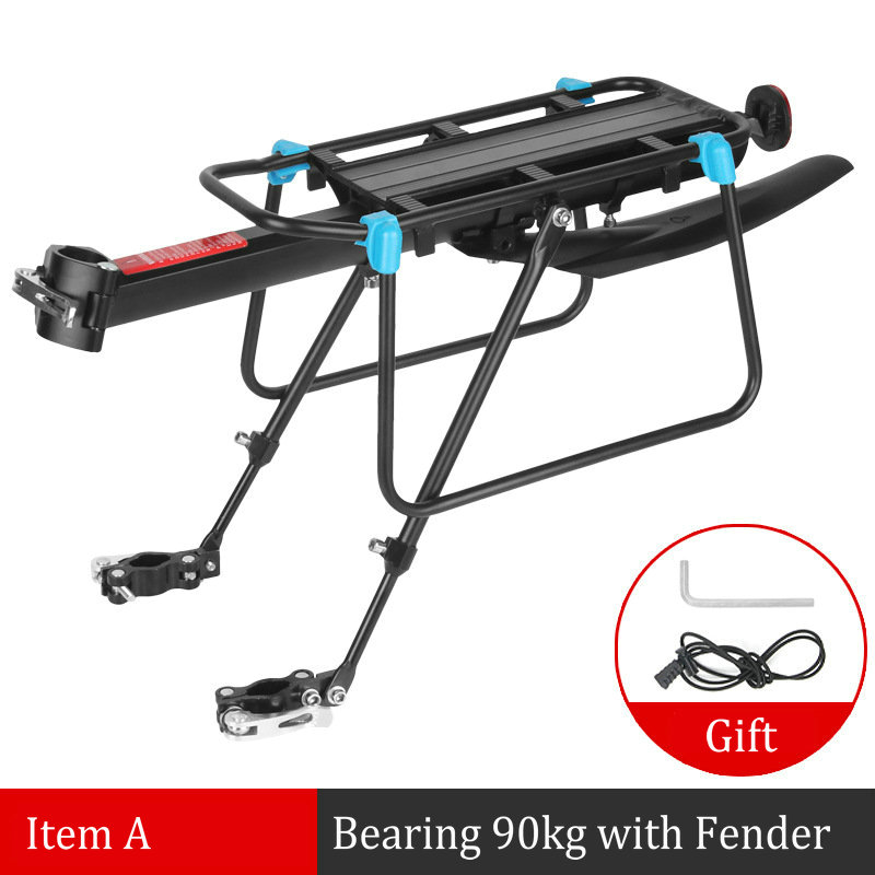 Mountain Road Bike Frame 90KG Luggage Rear Carrier Trunk Alloy Aluminum Quick Release Bike Rear Shelf Cycling Bicycle Racks