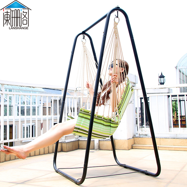 Waning Court Thick Reinforced Indoor Swing Outdoor Swing Hanging Chair  Recliner Outdoor High Load Bearing