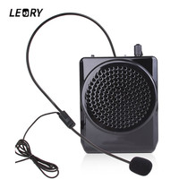 LEORY Portable Professional Head Mounted Microphone Voice Mic Amplifier With Waistband For Teachers Booster Amplifier Megaphone
