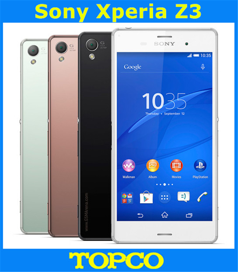Sony Xperia Z3 D6603 Original Unlocked Gsm 3g&4g Android Mobile Phone Quad Core 5.2 20.7mp Wifi Gps 16gb Rom 3100mah Cellphones & Telecommunications