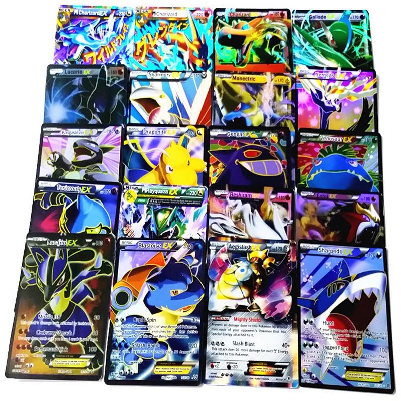60 adet/takım Pokemon Mega Ex Kartları Ticaret Kart İngilizce Anime Pokemon Rakamlar Gitmek Kart Oyuncaklar Çocuk Çocuk Hediye Koleksiyonu