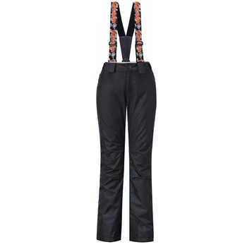 GsouSnow Women\'s Winter Shoulder Straps Ski Pants Outdoor Sportswear Hiking Climbing Snowboarding Skiing Female Trousers MI013