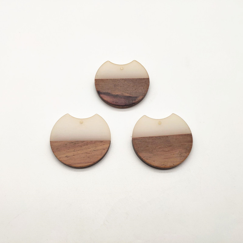 Image 4 - New arrival!37x35mm 30pcs round shape wood with Resin charm for stud earrings,earrings accessories,Earring parts,jewelry DIY-in Jewelry Findings & Components from Jewelry & Accessories