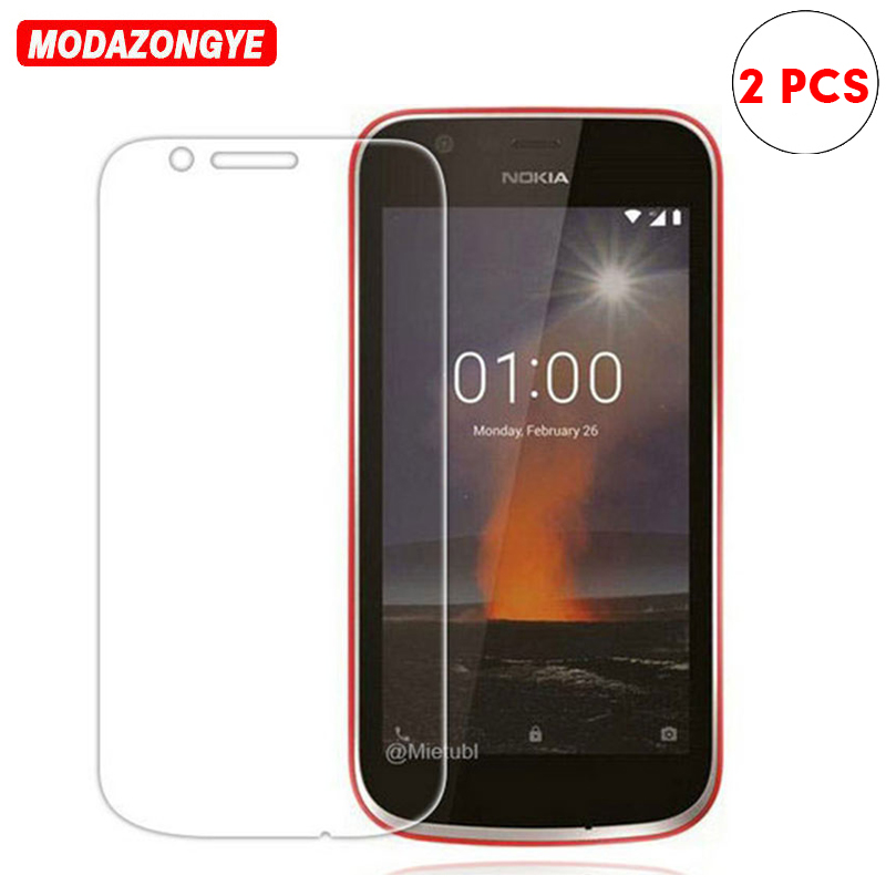 Galleria fotografica 2pcs For Nokia 1 Tempered Glass Nokia 1 2018 Screen Protector Film 9H Protective Glass For Nokia1 Nokia1 TA-1047 TA-1056 TA-1079