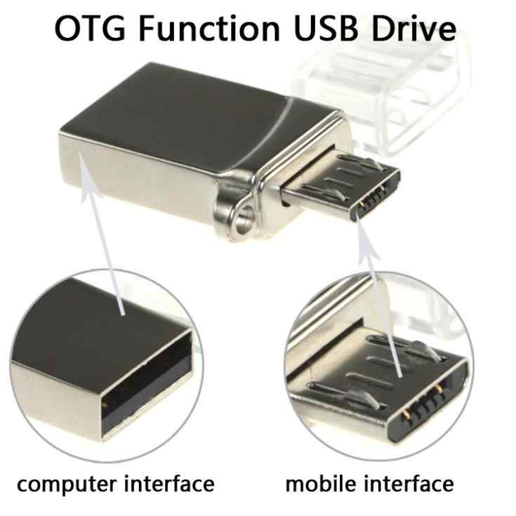 Teléfono Inteligente Metal OTG USB Flash Drive 16 GB 8 GB Mini USB tarjeta de memoria Stick Pen Drives 32 GB 64 GB Micro Pendrive 128 GB 1 TB 2 TB regalo