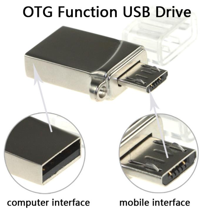 Smart Phone Metal OTG USB Flash Drive 16GB 8GB Mini USB Memory Card Stick Pen Drives 32GB 64GB Micro Pendrive 128GB 1TB 2TB Gift