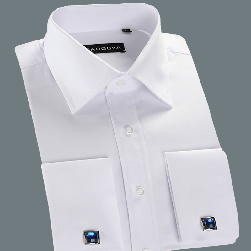 Mens White Cufflink Shirt | Is Shirt