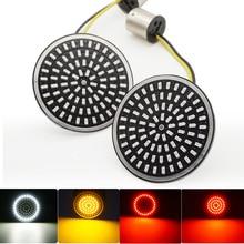 Luz indicadora de señal de giro para motocicleta, tipo bala, 1156, 1157, inserciones de luz LED para Touring Sportster Glide Dyna FLSTF CVO