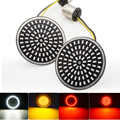 Motorcycle Bullet Richtingaanwijzer Lamp 1156 1157 LED Inserts Licht voor Harley Touring Sportster Glide Dyna FLSTF CVO
