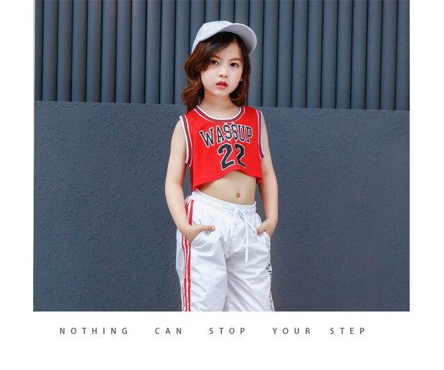 2019 nouveau Style coréen midriff-baring Jazz Hip Hop danse Costumes pour dames femmes enfants enfants filles Hiphop danse vêtements