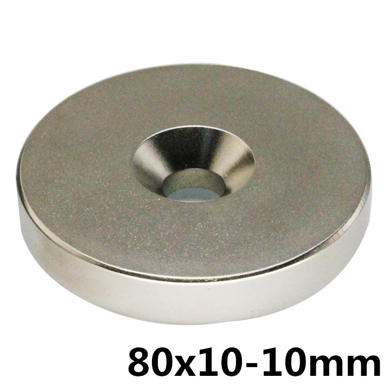 1pcs 80 x 10 mm Hole: 10mm N35 Super Strong Round Neodymium Magnet Countersunk Ring Rare Earth Magnets80mm x 10mm- 10mm1pcs 80 x 10 mm Hole: 10mm N35 Super Strong Round Neodymium Magnet Countersunk Ring Rare Earth Magnets80mm x 10mm- 10mm