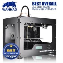 Wanhao 3D принтер D4S с двойной экструдер, высокая точность металлические framem комплект с 2 Бесплатная нитей SD карты