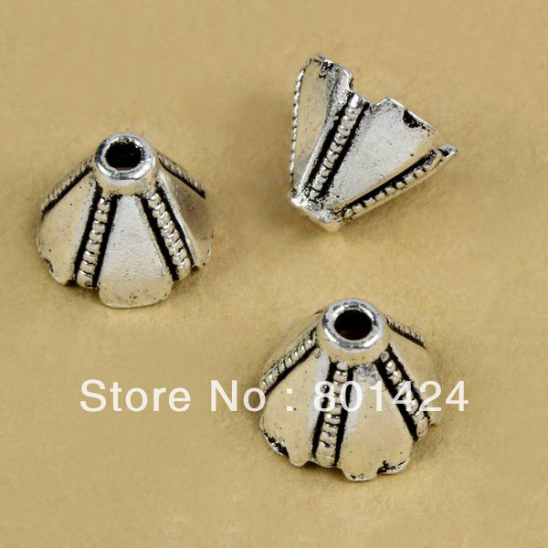 3c9502e73a2c Shippng 66-60 100 unids 10mm casquillos del grano plateado plata antigua  joyería de los granos de la aleación