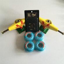 Skateboard Parts VENTURE 5.25″ Skateboard Truck & 52mm GIRL Sweet Pretty Wheels Skate Plus Zero Riser Pads