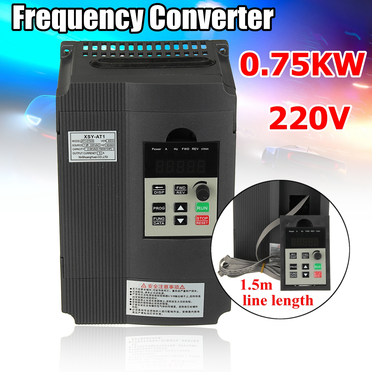 цена на Spindle motor speed control 220v 0.75kw VFD Variable Frequency Drive VFD 1HP Input 3HP Frequency Inverter For Motor