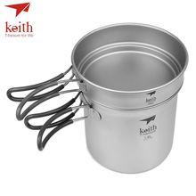 Keith Titanium 400ml Pan 1.2L Pot Set