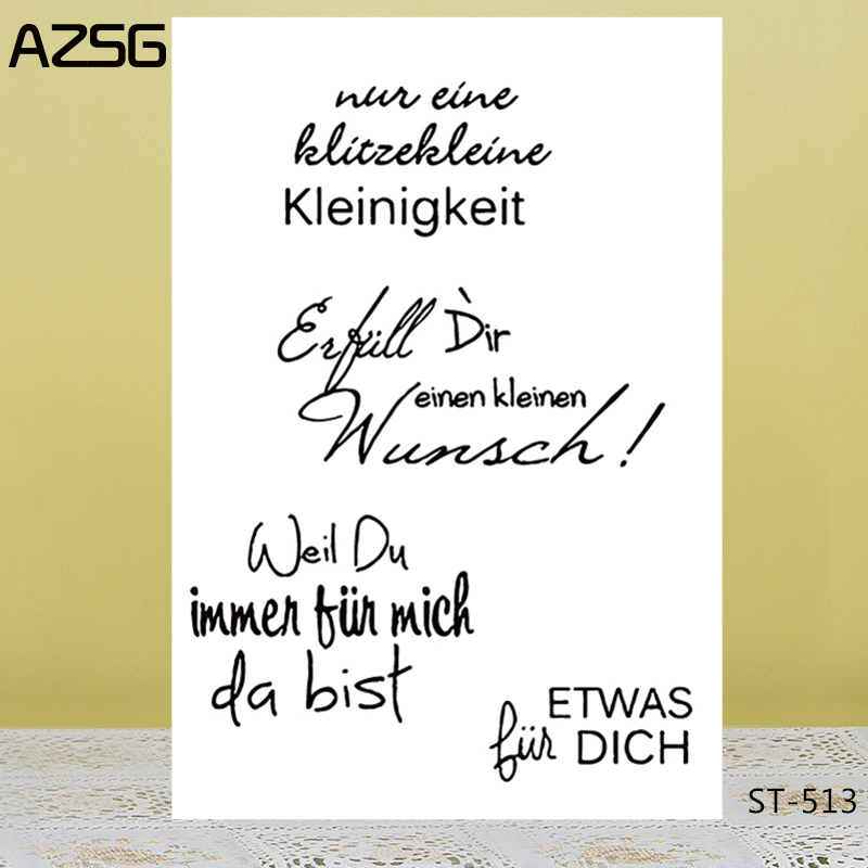 AZSG Easter Prayer Language Clear Stamps For DIY Scrapbooking/Card Making/Album Decorative Silicon Stamp Crafts