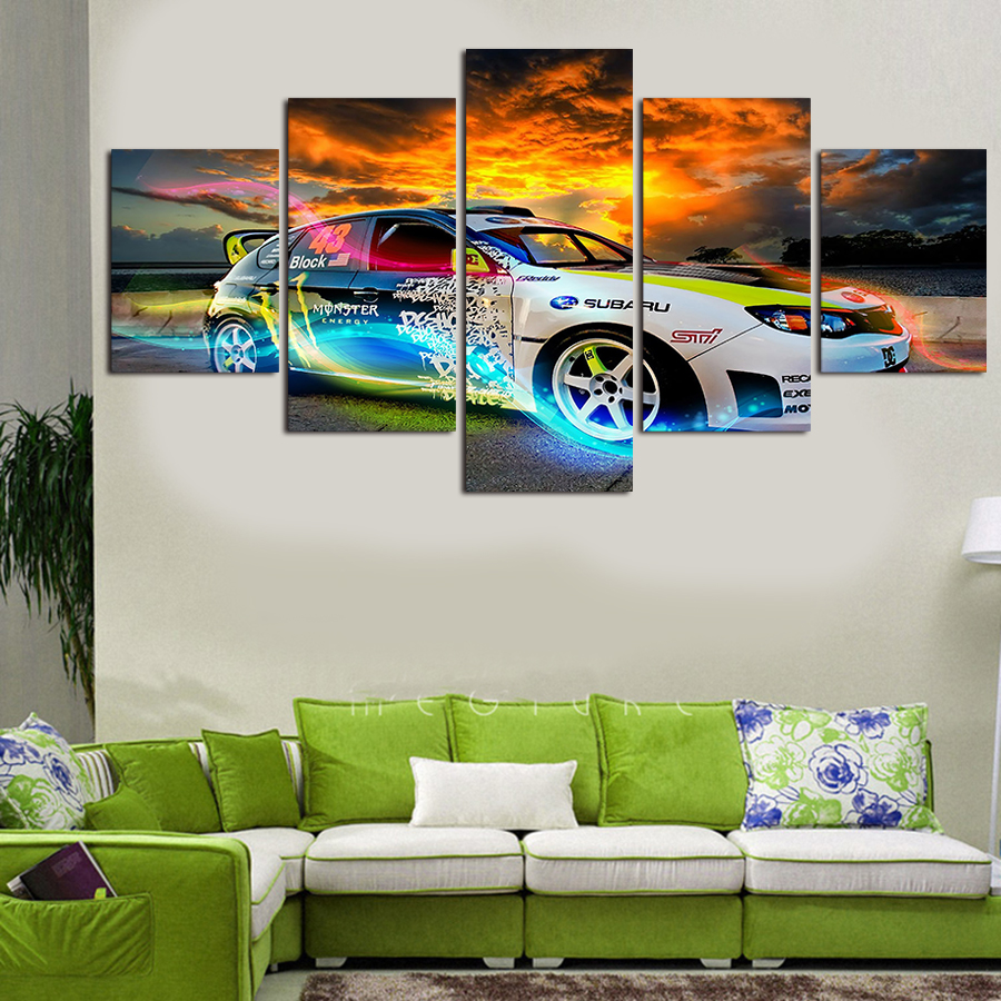 New Real No Oil Painting By Numbers Hot Panels Sell The Abstract Car Home Wall Decor Painting Canvas Art Hd Print Picture