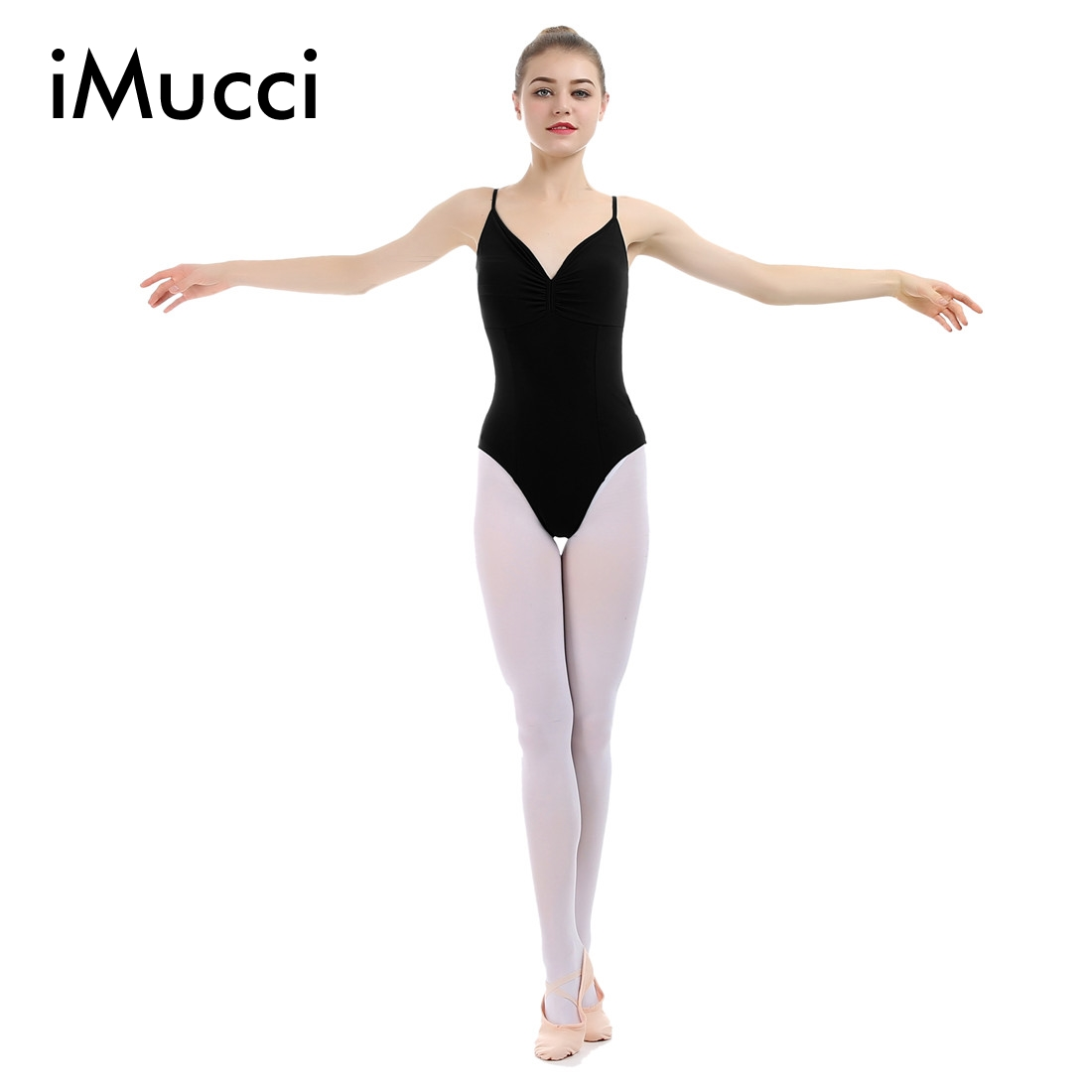 Black spandex dance unitard gymnastics and dancewear - Imucci Du Pont Lycra Cotton Vest Black Women Professional Ballet Gymnastics Leotard Unitard Ballerina Leotards Green Dancewear