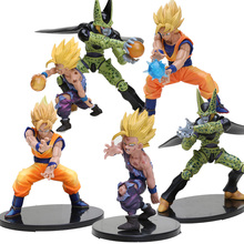 11,5-17 см Супер Saiyan Son Goku Son gohan cell ПВХ фигурка с хрустальными шариками Dragon Ball Z Коллекционная модель куклы