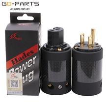 MPS Hades M/W Mains AC POWER Plug Socket Connector ONS IEC320 Standaard Carbon Afscherming Hifi Audio DIY 1PC