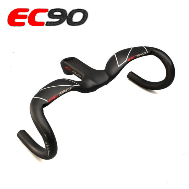 2019 mới EC90 Full Carbon sợi Xe đạp đường bộ tay lái/Xe Đạp/Tích hợp 1 tay cầm CARBON TAY LÁI XE ĐẠP