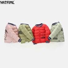 YATFIML 2018 de invierno acolchado Chaquetas niños niñas algodón grueso  chaquetas deportes acolchado cuello manga costilla 7ecd6fbce16e