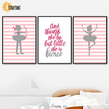 Bowman Quotes Dancer Wall Art Canvas Painting Nordic Posters And Prints Pictures For Kids Bedroom Baby Girl Room Home Decor