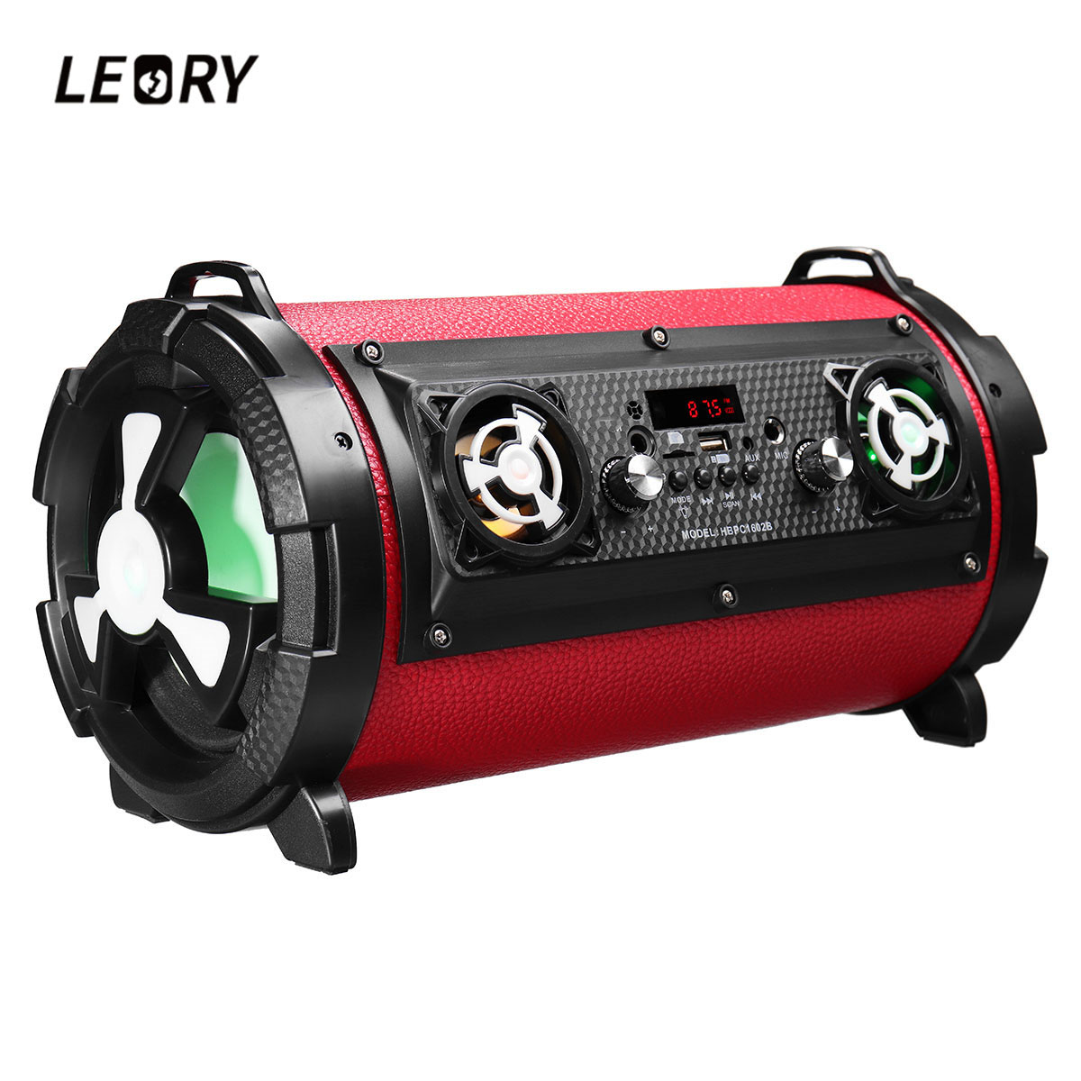 LEORY 15W Home TV Smartphones Wireless Bluetooth Speaker Portable Outdoor Subwoofer with Mic Multifunctional Large Power Speaker leory sy1602 newest outdoor portable bluetooth speaker 15w 2000mah wireless subwoofer speaker with microphone multicolor