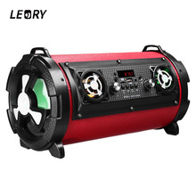 LEORY 15W Home TV Smartphones Wireless Bluetooth Speaker Portable Outdoor Subwoofer with Mic Multifunctional Large Power Speaker